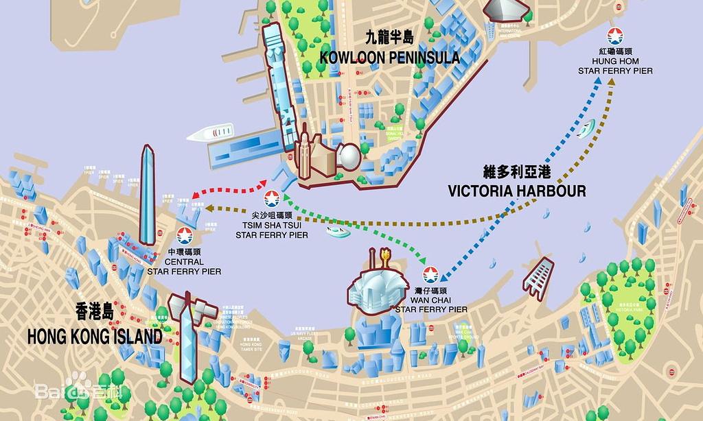 中环码头旅游导图