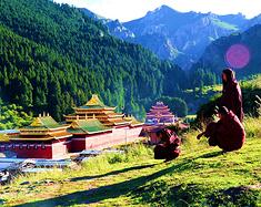 夏宁葆到甘南拉卜楞寺,郎木寺旅游。