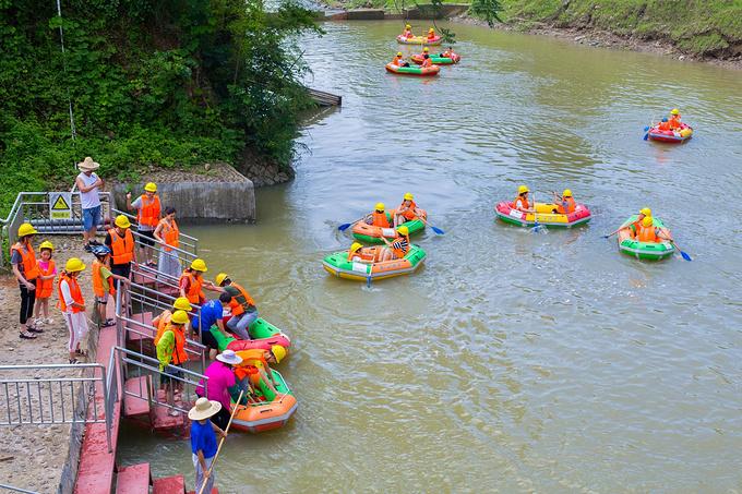 广德南溪漂流图片