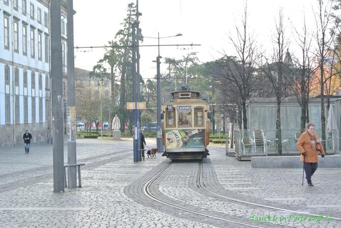 波尔图的电车图片