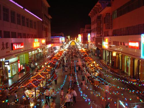 敦煌莫高窟-鸣沙山月牙泉-沙州夜市图片
