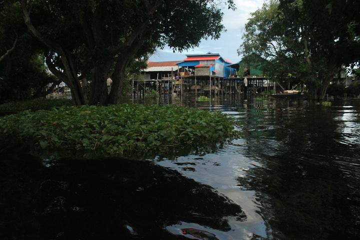 """""""二、游览的最好时间在下午黄昏,在游览结束前可以看到美丽的日落_洞里萨湖""""的评论图片"""
