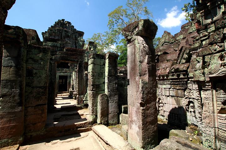 """""""托玛侬神庙,柬埔寨吴哥窟景点之一。可选择连续三天或一周内任意三天参观,七日票亦同_托玛农神庙""""的评论图片"""