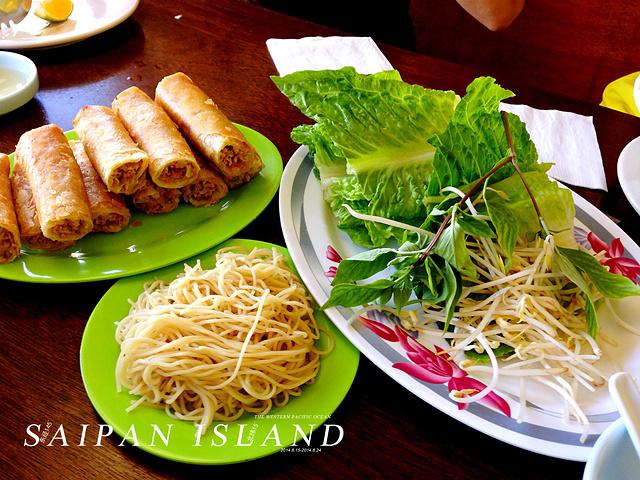 """""""说实话,菜的口味一般,可能是吃不习惯的原因吧,不过也没剩下,毕竟不总吃,吃个新鲜还是很有意思的_Truong's 越南饭店""""的评论图片"""