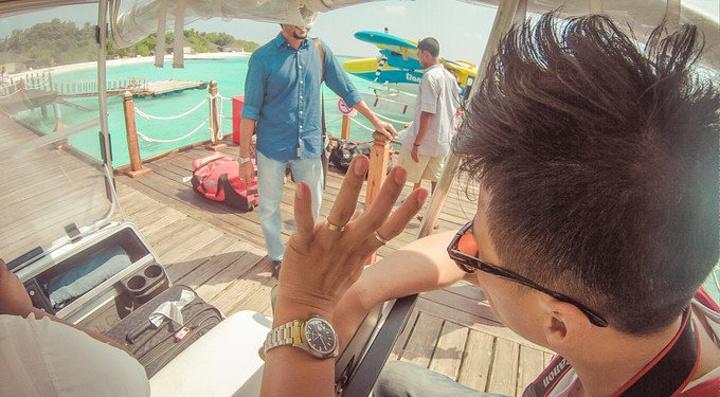 """""""一路在和我们聊天介绍岛屿环境第一印象就觉得这里的人们相处都非常友善又很谦和,在路上我们遇见一..._密度帕茹岛""""的评论图片"""