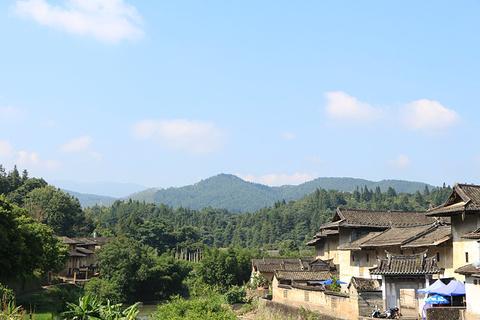 洪坑土楼民俗文化村旅游景点攻略图