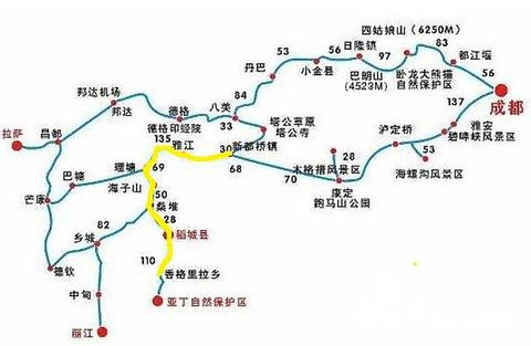新都桥旅游景点攻略图