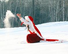 雪山脚下古装情怀,长白滑雪温泉话剧摄影集