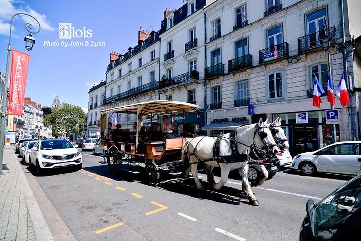 """""""曾经是运输主力的马车如今已经成为具有欧洲特色的观光车。幸福的味道,还是阳光中如花绽放的每个微笑_布洛瓦老城区""""的评论图片"""