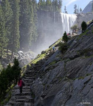 Mist Trail旅游景点攻略图
