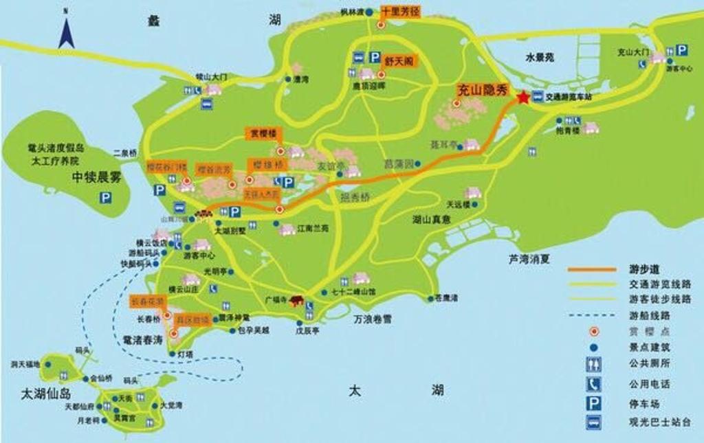 鼋头渚旅游导图