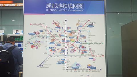 成都双流国际机场旅游景点攻略图