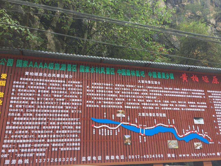 黄柏塬旅游导图