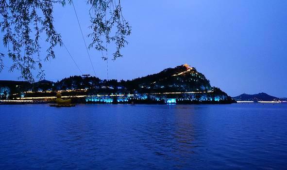 夜航,璀璨的雁栖湖
