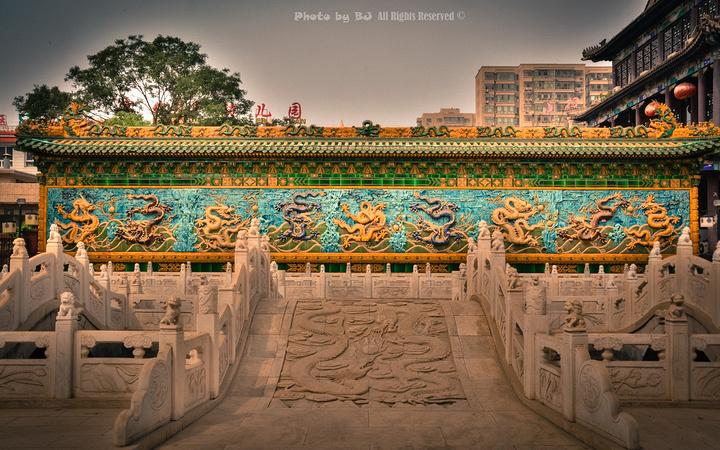 """""""要知道全国最著名的三处九龙壁分别在北京(2处)和大同(1处)。我还想宣化怎么会有九龙壁呢_宣化九龙壁""""的评论图片"""