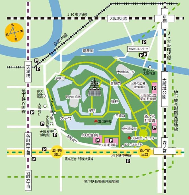 大阪城公园旅游导图
