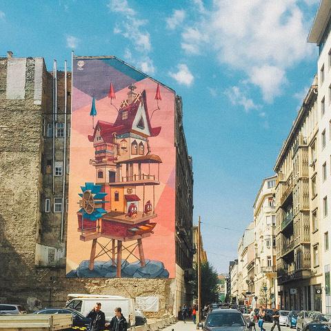 """""""这里并不是我旅行的首选地,但却是最让我惊喜的。布达佩斯中央市场。热爱旅行的你,希望不要错过它_中央大市场""""的评论图片"""