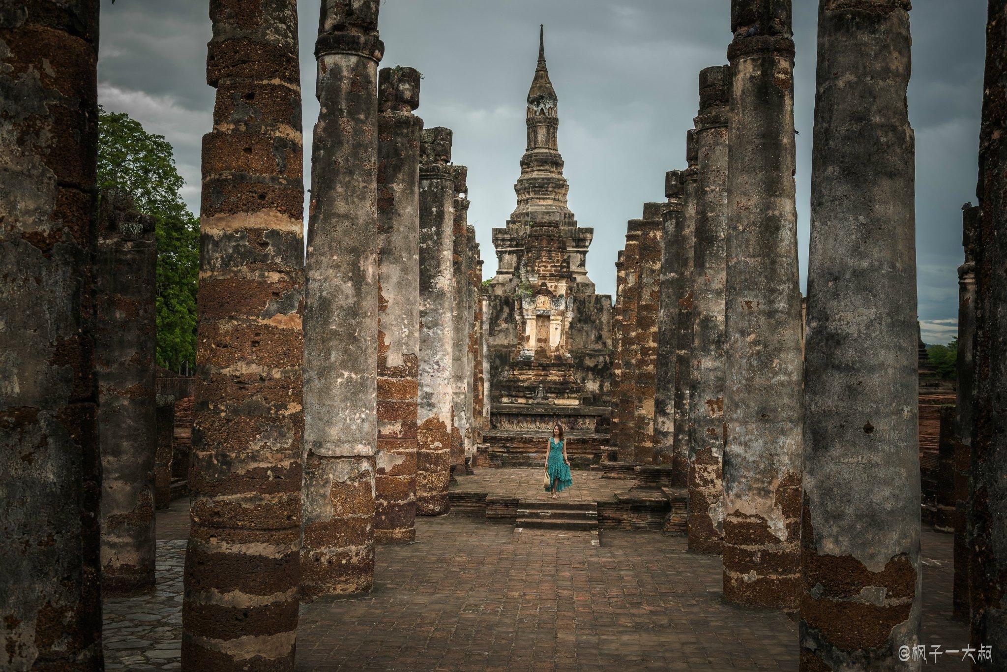带上小姐姐,旅拍素可泰历史遗迹,泰国最精华辉煌的文化所在地素可泰