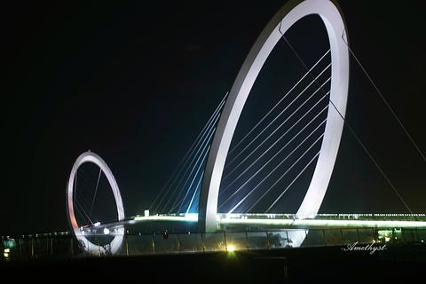 南京眼步行桥旅游景点攻略图