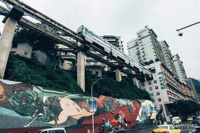 李子坝站图片