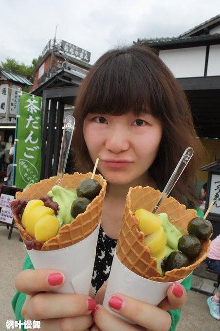 宇治抹茶冰淇林图片