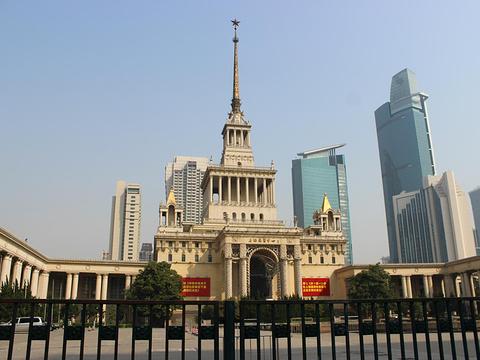 上海展览中心旅游景点图片