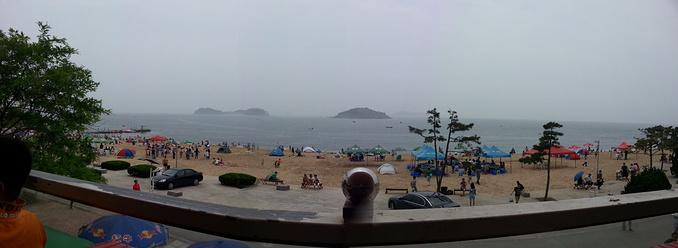 海边闲逛图片