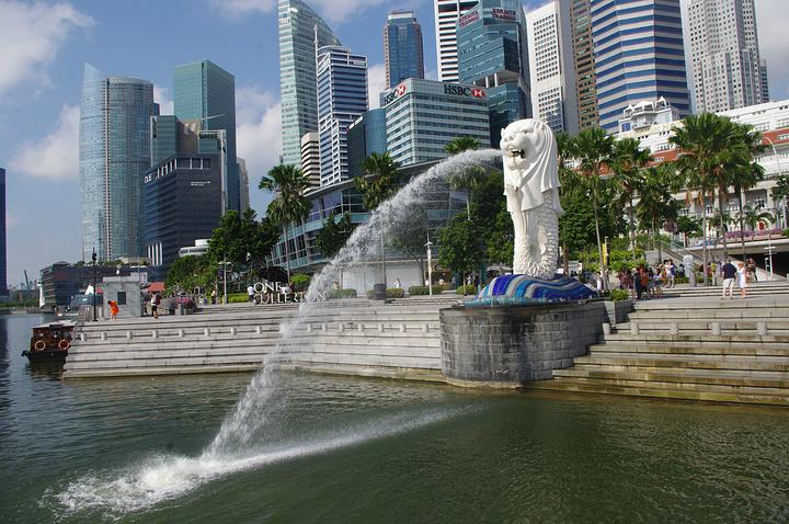 """""""总体来说这个地方属于必去景点,如果到新加坡不去鱼尾狮身就像没去过新加坡一样_鱼尾狮公园""""的评论图片"""