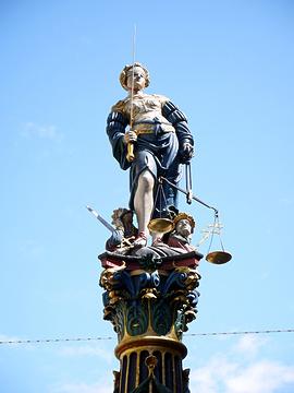 正义女神喷泉旅游景点攻略图