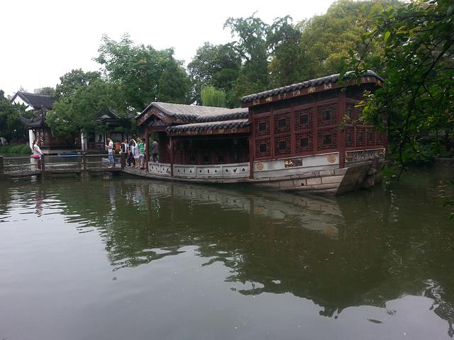 """""""一进门便能看到一张很大的导览图,可以拍下来,看看比较有兴趣的景点。总统府里面的一个小桥流水的美丽园林_煦园""""的评论图片"""