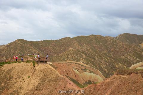 张掖七彩丹霞旅游景区旅游景点攻略图