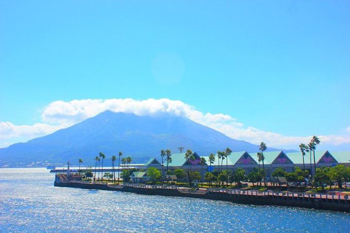 """""""沿路的海峡很美_樱岛火山""""的评论图片"""