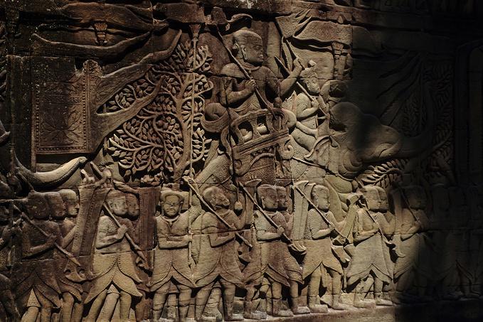 巴戎寺的浅浮雕图片