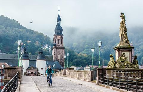 海德堡老桥旅游景点攻略图