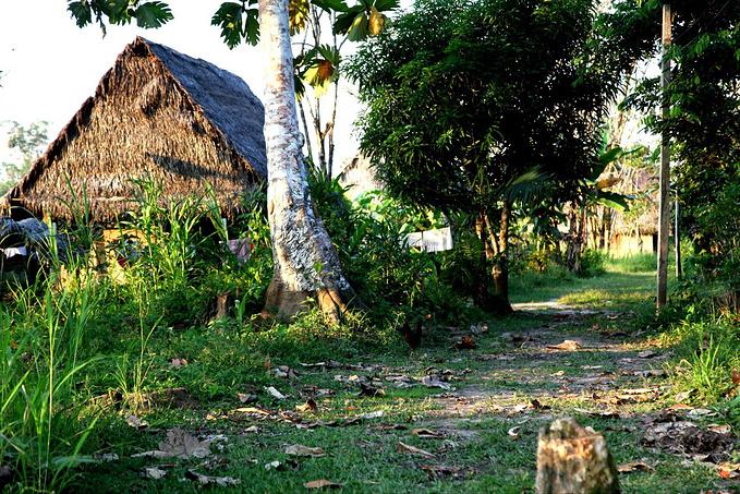 参观附近的村子图片