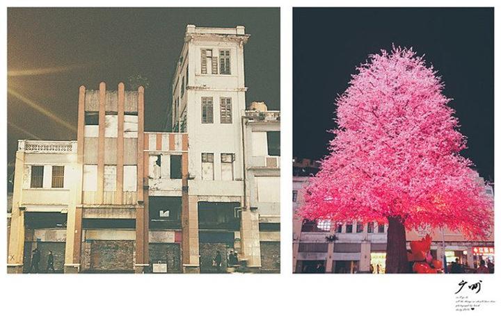 """""""19换了一条通向北京路的街道遇到梦想环游世界的白俄罗斯人听着他们的弹唱整个人都变的欢乐..._北京路步行街""""的评论图片"""
