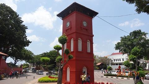 马六甲钟楼旅游景点攻略图