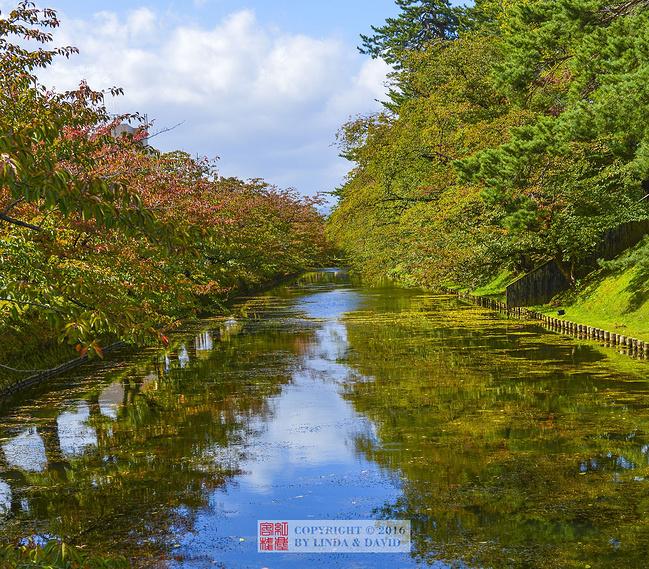 弘前护城河图片