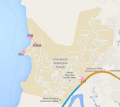 沙巴大学旅游景点攻略图