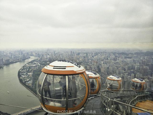 """""""只要能见度好,广州的美丽景致绝对能一览无余。这里既有传统的人工售票也有自助售票系统,十分方便_广州塔""""的评论图片"""