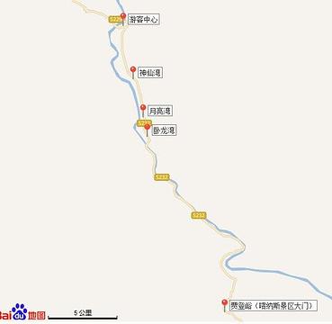 神仙湾旅游景点攻略图