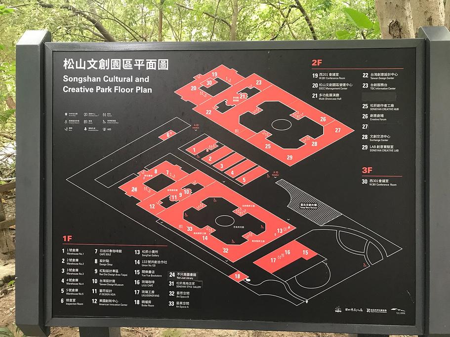 松山文创园区旅游导图