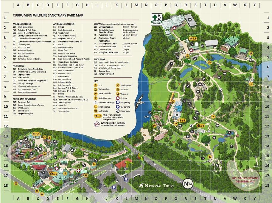 可伦宾野生动物保护园旅游导图