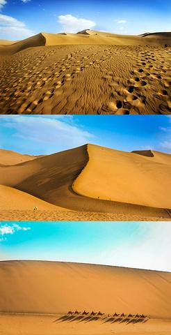 和沙漠的一百天图片_2020我个人觉得鸣沙山露营最有魅力的点应该是可以完整的看到 ...