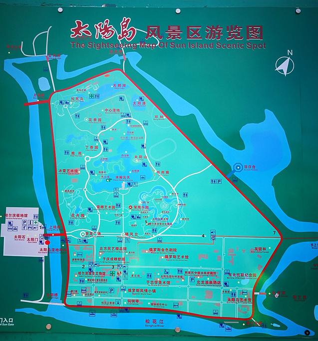 太阳岛风景区旅游导图