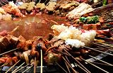 喀什老城夜市美食广场