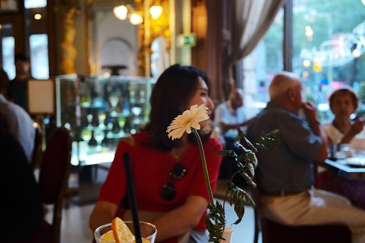 """"""" 纽约 大饭店底层有一家咖啡馆, 从早上8时开门,客人就络绎不绝,经常座无虚席,许多外国游客慕名而来_纽约宫咖啡厅""""的评论图片"""