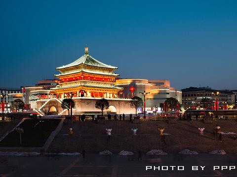 西安钟楼旅游景点图片