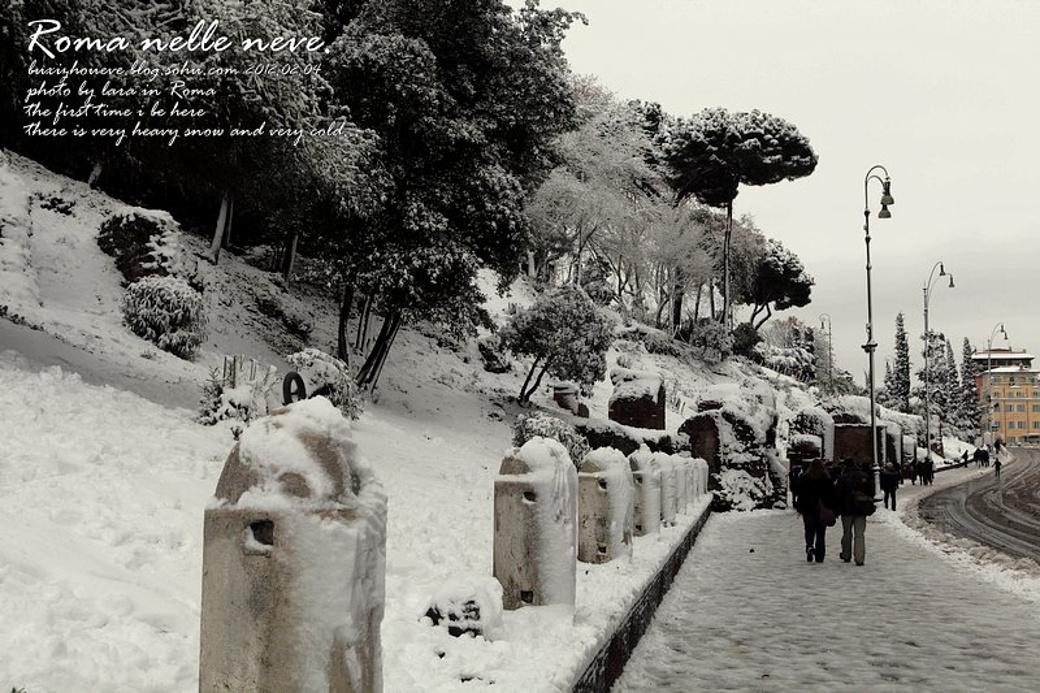 雪中城垣,古都罗马