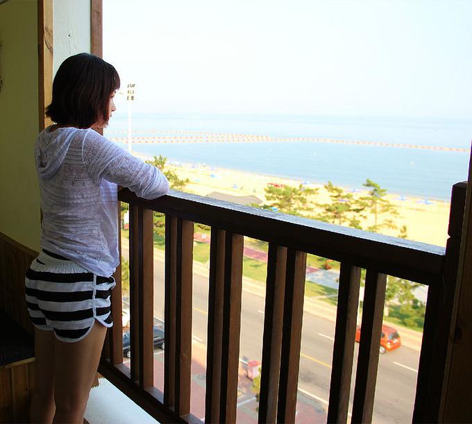 清晨看大海图片